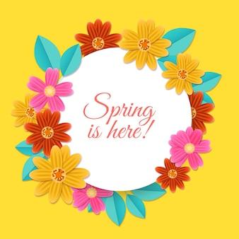 De levendige, kleurrijke lente is hier! citaat