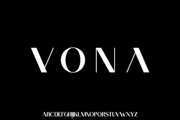 De luxe en elegante lettertype-glamourstijl
