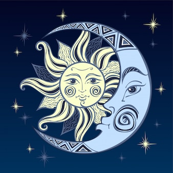 De maan en de zon