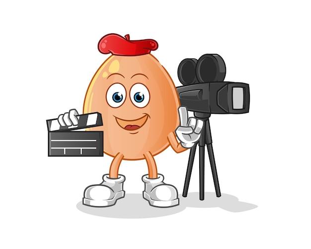 De mascotte van de eierregisseur. tekenfilm