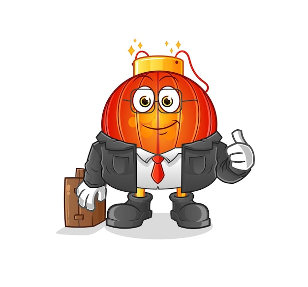 De mascotte van het chinese lantaarnkantoorpersoneel