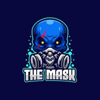 De mask esports-logo sjabloon