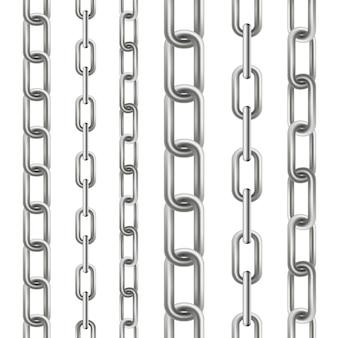 De metaal bengelende ketting verbindt naadloos metaal.