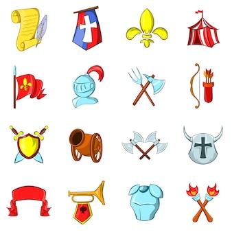De middeleeuwen pictogrammen instellen