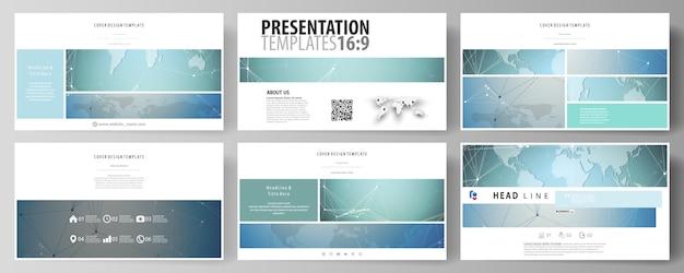 De minimalistische abstracte vectorillustratie van de bewerkbare lay-out van high-definition presentatiedia's ontwerpen zakelijke sjablonen.