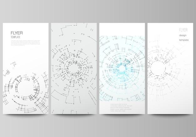 De minimalistische vectorillustratie van bewerkbare lay-out van flyer