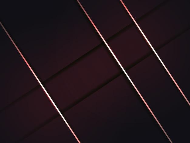 De moderne abstracte achtergrond van bourgondië met schaduwen en rode lijnen.