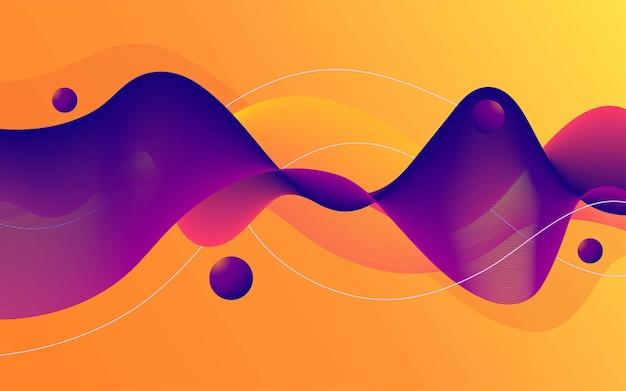 De moderne abstracte vloeibare achtergrond van de stroomvorm