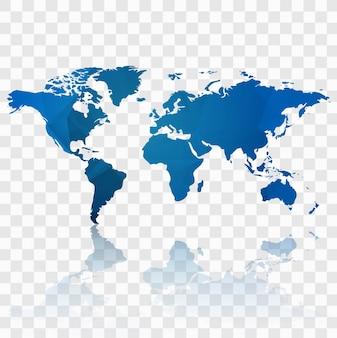 De moderne achtergrond van de wereldkaart