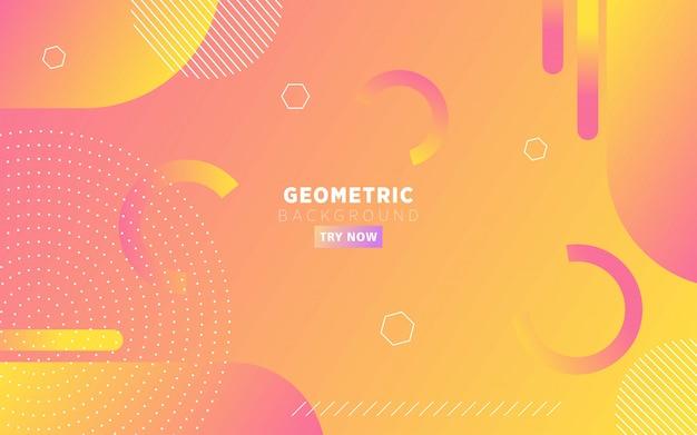 De moderne oranje achtergrond van de gradiënt abstracte geometrische vorm