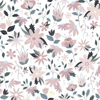 De mooie bloemen naadloze vector van de patroon gevoelige bloem