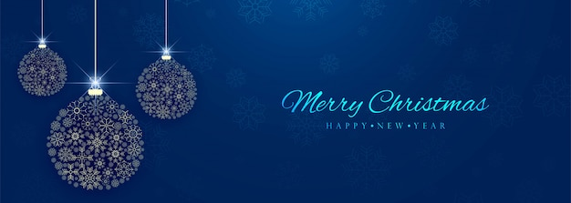 De mooie decoratieve kleurrijke banner van de kerstmisbal