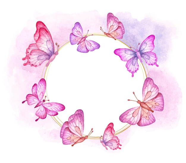 De mooie kleurrijke vliegende kaart van de vlindersvalentijnskaart