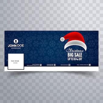 De mooie vrolijke hoed van kerstmissanta met facebook bannermalplaatje
