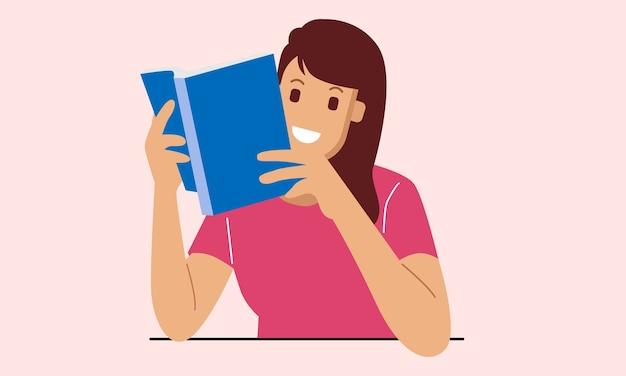 De mooie vrouw leest een boek