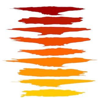 De mooie waterverfhand trekt slagen geplaatst ontwerp
