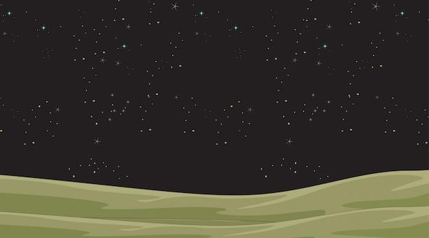 De nachthemel met sterren landt scène of achtergrond