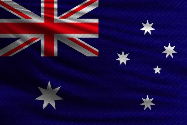 De nationale vlag van australië.