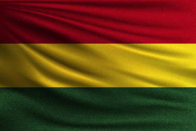 De nationale vlag van bolivia.