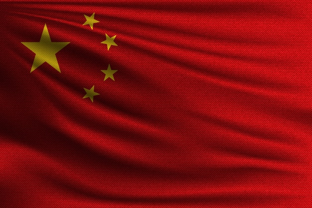 De nationale vlag van china.