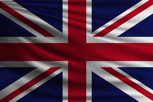 De nationale vlag van groot-brittannië.
