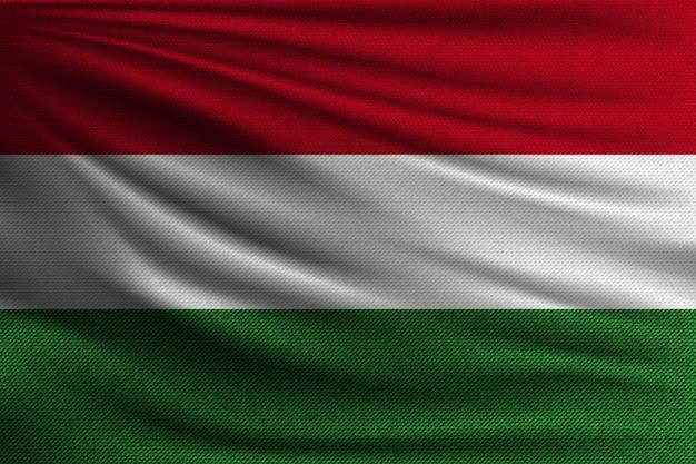De nationale vlag van hongarije.