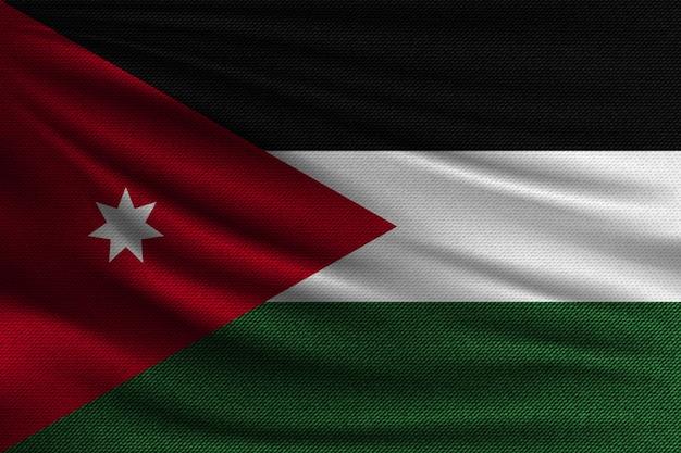 De nationale vlag van jordanië.