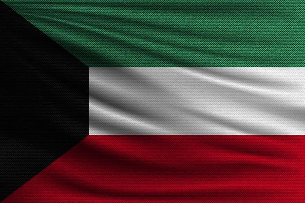 De nationale vlag van koeweit.