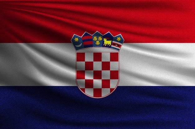 De nationale vlag van kroatië.