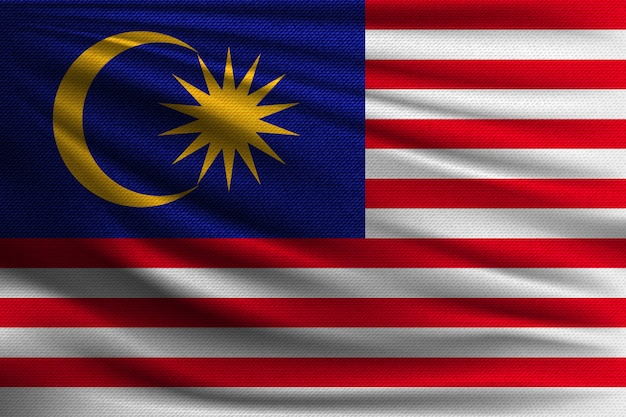 De nationale vlag van maleisië.