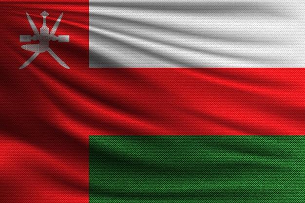 De nationale vlag van oman.