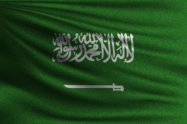 De nationale vlag van saoedi-arabië.