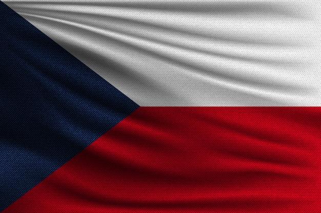 De nationale vlag van tsjechië.