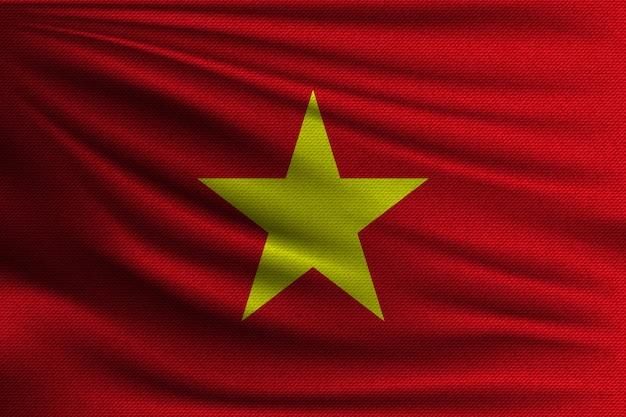 De nationale vlag van vietnam.