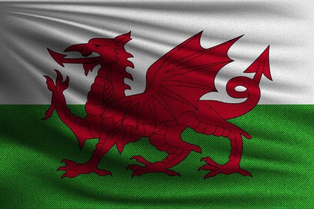 De nationale vlag van wales.