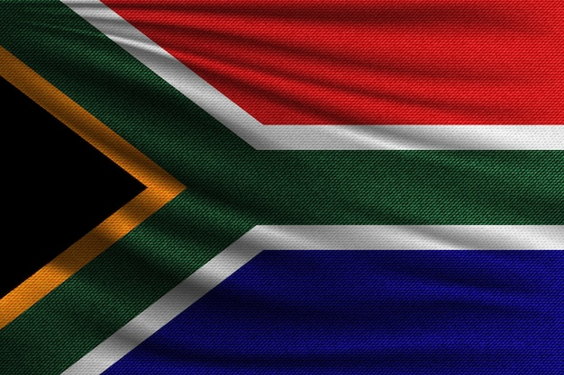 De nationale vlag van zuid-afrika.