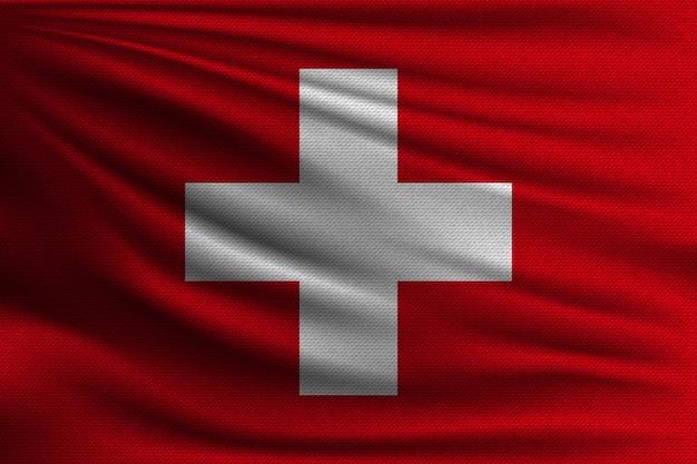De nationale vlag van zwitserland.
