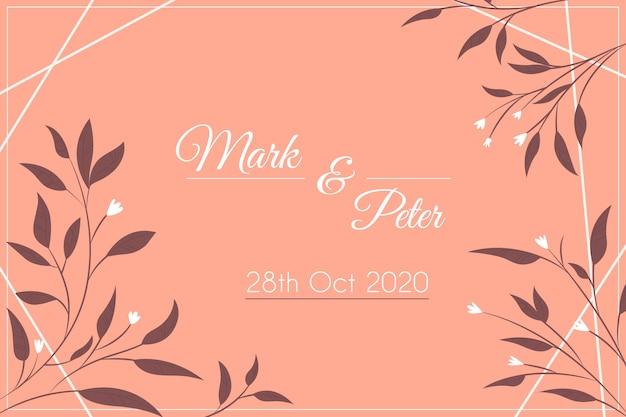De natuur bewaart de datum bruiloft uitnodiging