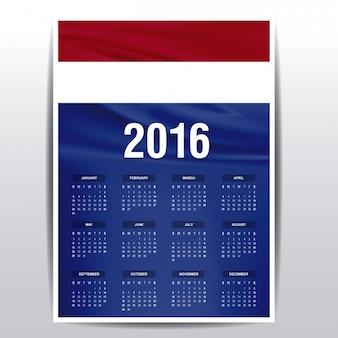 De nederland kalender van 2016
