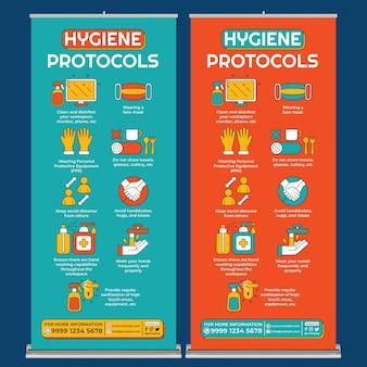 De nieuwe normale posterafdruksjabloon in platte ontwerpstijl