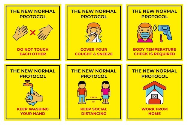 De nieuwe normale postersjablonen