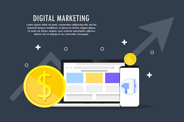 De ontwikkeling van digitale marketing.