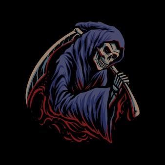 De onverbiddelijke reaper illustratie