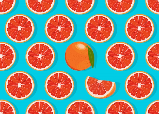 De oranje vruchten snijden naadloos patroon