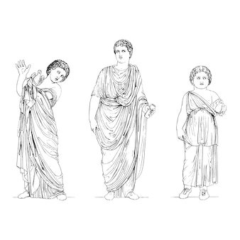 De oude illustratie van griekenland Gratis Vector