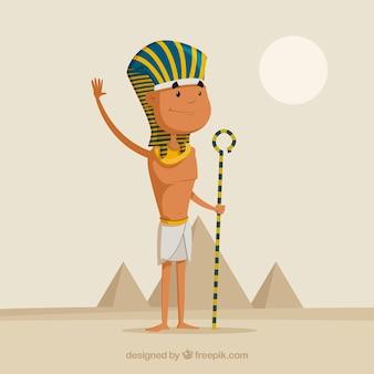 De oude samenstelling van egypte met vlak ontwerp