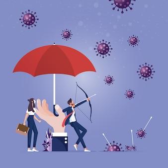 De overwinning van de mensheid op een pandemisch coronavirus