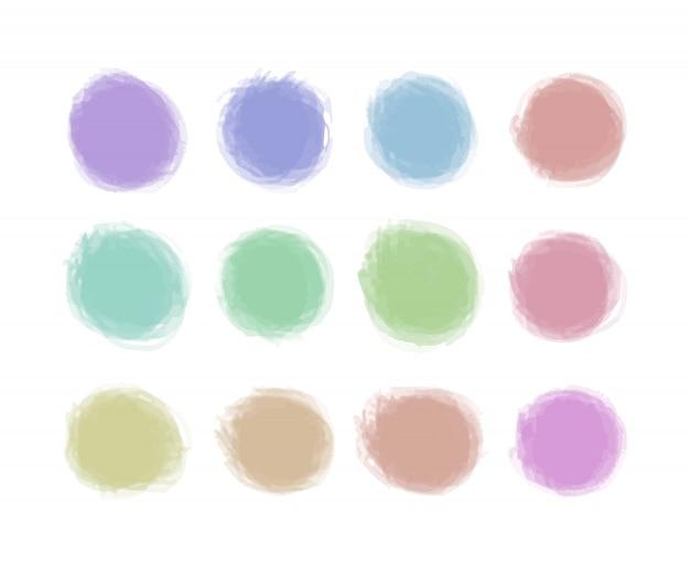 De pictogrammen grunge plons ploetert vormpastelkleur