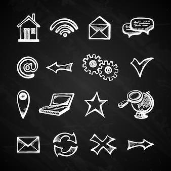 De pictogrammen van internet