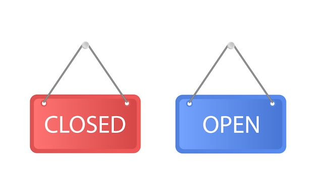 De platen zijn gesloten en open.